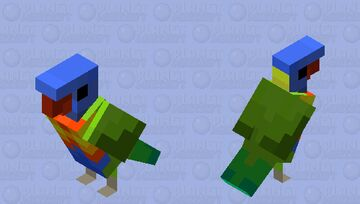 Rainbow Lorikeet Minecraft Mob Skin