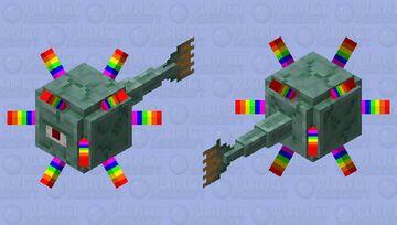 Rainbow guardian Minecraft Mob Skin