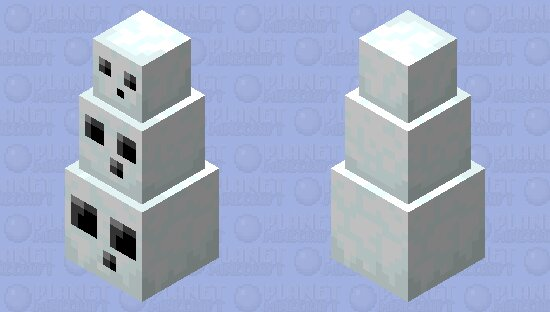 Stack of snowy slimes