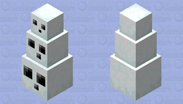 stack of snowy slimes Minecraft Mob Skin