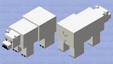 Clean Polar Bear Minecraft Mob Skin