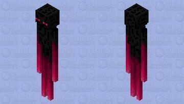 Better crimson enderman Minecraft Mob Skin