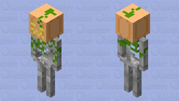 Pumpkin headed skeleton (v.2) Minecraft Mob Skin