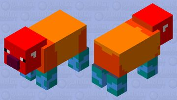 Fire Tapir for the Tapir Mod Minecraft Mob Skin