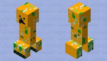 Weird Creeper Minecraft Mob Skin