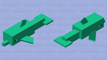turquoise dolphin Minecraft Mob Skin