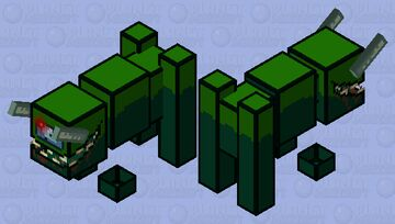 Among us / impostor / ravager / low resolution / remade Minecraft Mob Skin
