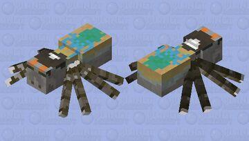 Peacock spider Minecraft Mob Skin
