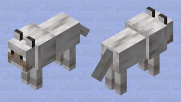 noseless wolf (noseless edition) Minecraft Mob Skin