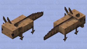 Smoother Pixelised Axolotl (Brown) Minecraft Mob Skin
