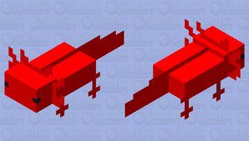 Red Axolotl Minecraft Mob Skin