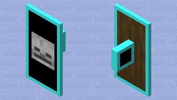 Diamond Skeleton Shield Minecraft Mob Skin