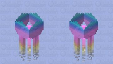 some stupid pink blue yellow white striped jelly fish [POP REEL] Minecraft Mob Skin
