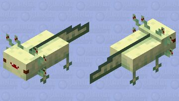 Medusa axolotl (Tap tap fish:abyssrium) Minecraft Mob Skin