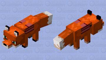 Sagebush the Fox Minecraft Mob Skin