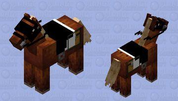 Kind of edited Dark Knight returns horse Minecraft Mob Skin