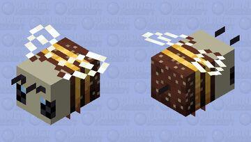 Nectar Skull bee Minecraft Mob Skin