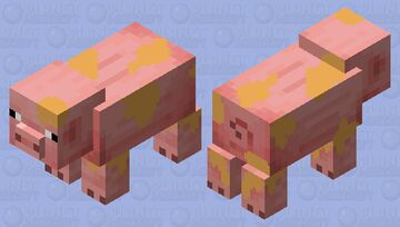 spotted pig Minecraft Mob Skin