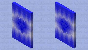 Hacker / Blue Cape Minecraft Mob Skin