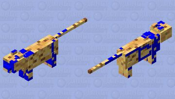GLITCHED Ocean Ocelot Minecraft Mob Skin