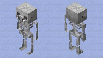 Skeleton Piglin / original textures Minecraft Mob Skin
