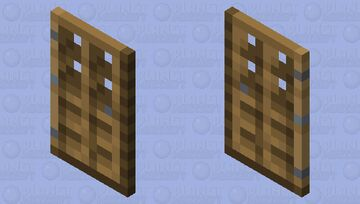 Oak Door Cape Minecraft Mob Skin
