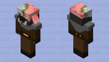 Undead Survivor Piglin Minecraft Mob Skin