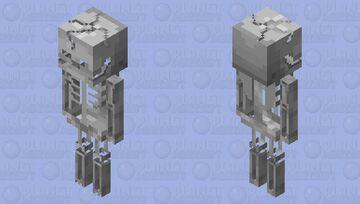 Much better skeleton Minecraft Mob Skin