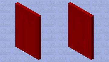 red farbric cape Minecraft Mob Skin