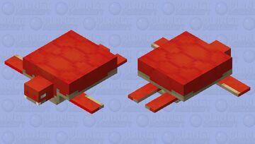 Red Turtle Minecraft Mob Skin