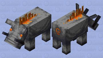 Basalt Hoglin Minecraft Mob Skin
