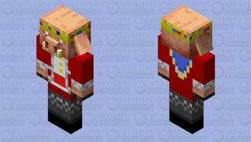 Technoblade Piglin Minecraft Mob Skin