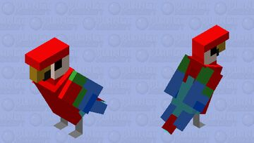 better red parrot Minecraft Mob Skin