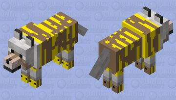 bee wolf Minecraft Mob Skin