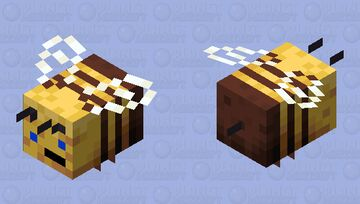 Silly Bee Minecraft Mob Skin