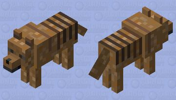 Thylacine (Tasmanian Tiger) Minecraft Mob Skin
