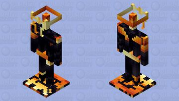 Minecraft texture pack - Modern Obsidian / netherithe armor stand Minecraft Mob Skin