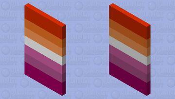 Lesbian Pride Minecraft Mob Skin