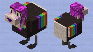 E-girl chicken Minecraft Mob Skin