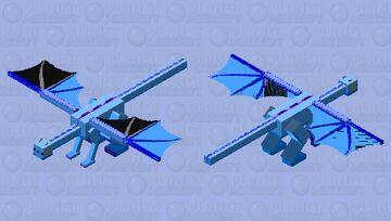 Blue Axodrakel Minecraft Mob Skin