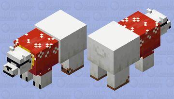 Hawaiian Polar Bear Minecraft Mob Skin