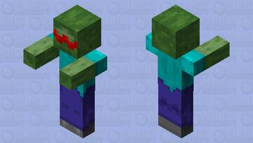Heart eyes zombie - valentines day special Minecraft Mob Skin