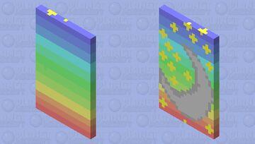 Rainbow w/moon and star cap Minecraft Mob Skin