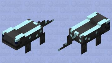 salamander / Black and Sky blue / my version Minecraft Mob Skin