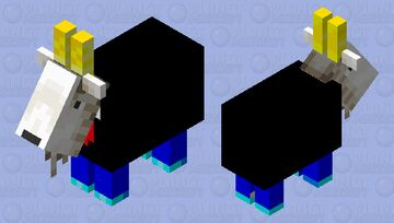 A REALLY RICH GOAT WITH DIAMOND SHOES AND GOLDEN HORNS Minecraft Mob Skin