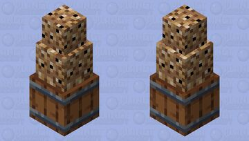 Overflowing Barrel of stacked fish (for fishstacks) Minecraft Mob Skin