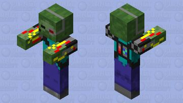 Alone_1244's mob shop: the robot zombie Minecraft Mob Skin