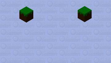 Flying Grass Block Minecraft Mob Skin