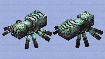 Drowned spider Minecraft Mob Skin