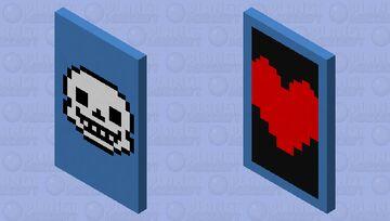 Undertale Sans Cape Minecraft Mob Skin